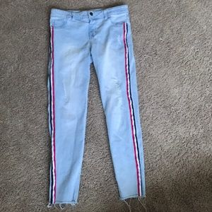 Super Stretch Straight Distressed Jeans